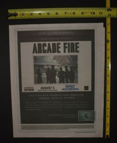 Arcade Fire 2010 Concert Ad MSG NYC Spoon