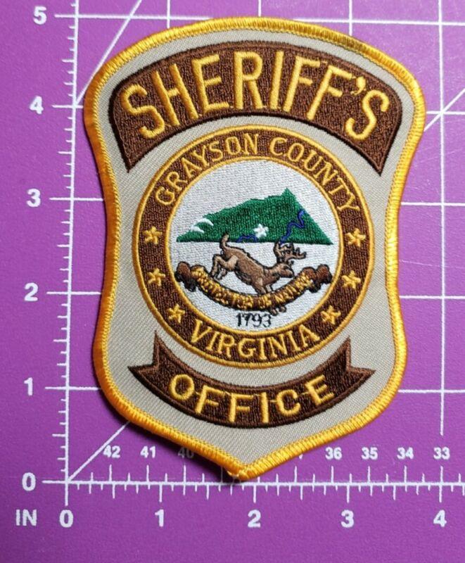 Grayston County Virginia Sheriff-shoulder patch