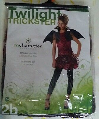 Scary Teen Costumes (TWILIGHT TRICKSTER TEEN CHILD COSTUME Dress Wings Scary Theme Party)