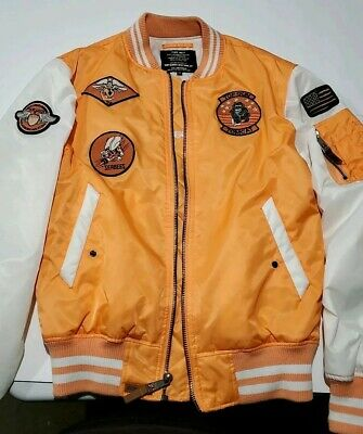 Top Gun Jacket (TOP GUN TYPE MA-1 FLIGHT BOMBER JACKET WITH PATCHES SIZE M)
