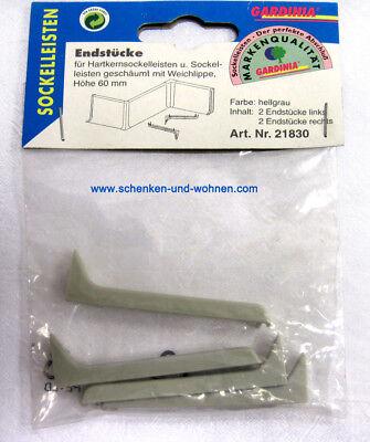 Endstücke für Hartkernsockelleisten 60 mm hellgrau Gardinia
