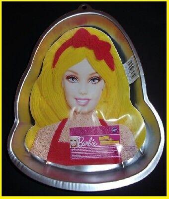 WILTON BARBIE CAKE PAN w/ face plate birthday party princess theme  - Barbie Birthday Theme