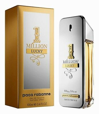 1 One Million Lucky Paco Rabanne Edt Spray For Men 3 4 Oz  New In Sealed Box