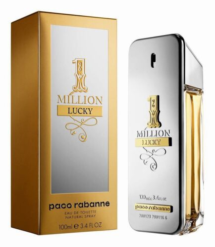 1 Million Lucky Cologne by Paco Rabanne 3.4 oz EDT Spray for Men NEW