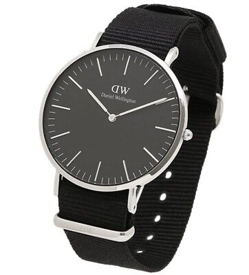 DANIEL WELLINGTON BLACK CORNWALL 40MM UOMO DW00100149 ⌚AUTENTICO ✔️✔️✔️