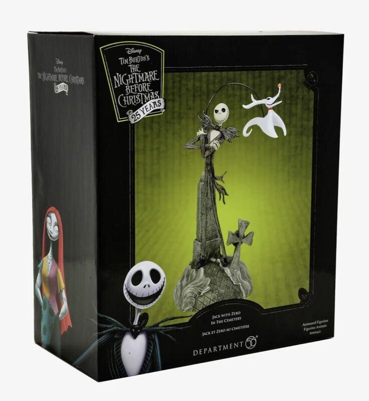 Department 56 Nightmare Before Christmas Jack & Zero Cemetery Animated Figurine
