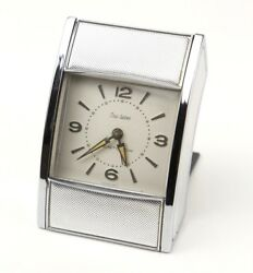 Vintage WESTCLOX 1950's Travel Alarm Clock Roll Tambor Door Mid Century Wind Up