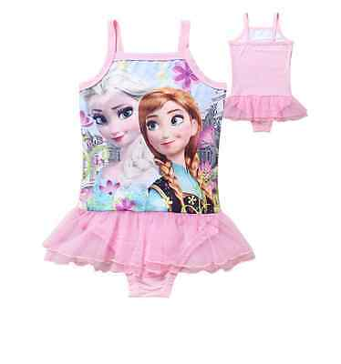 Frozen Elsa New Kids Swim Bathing Suit Girls Pink Swimsuit 6 - Swim Suit Girls