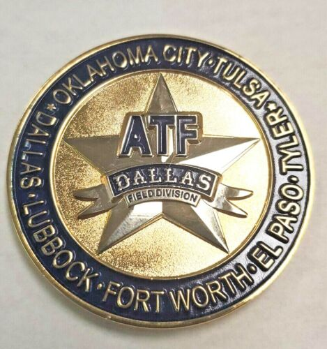 ATF DALLAS FIELD DIVISION CHALLENGE COIN NEW COIN