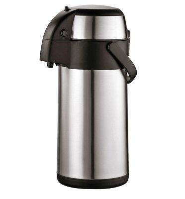 Airpot 3L Edelstahl Pumpkanne Isolierkanne Thermoskanne Kaffeekanne Teekanne ()