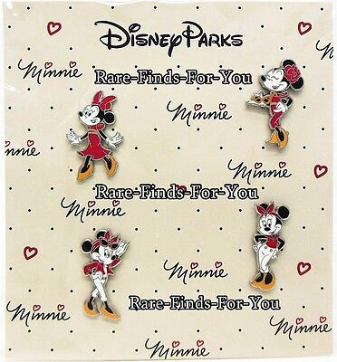 "Disney Parks ""Minnie Mouse"" Fierce Fashion Glamour 4-Pin Booster Pack Set (NEW)"