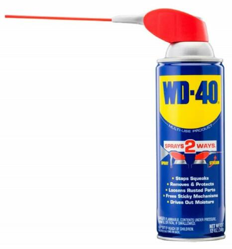 WD-40 490057 Multi-Use Lubricant Smart Straw Spray 12 OZ (Pack of 12)