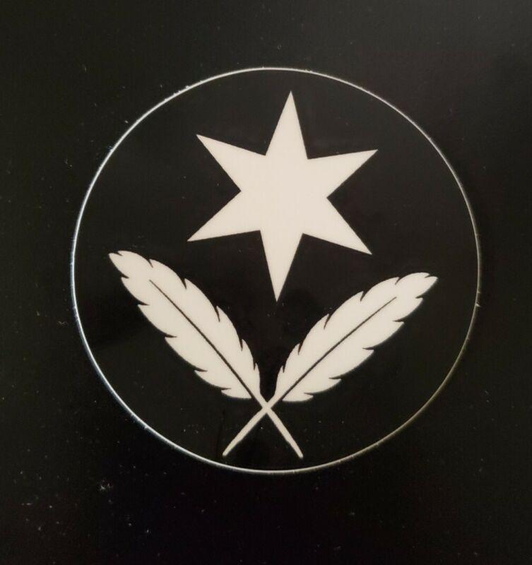 "Sovereign citizen flag 3"" round sticker pro liberty anti tyranny big brother"