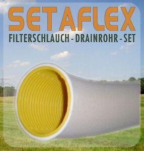50m Drainagerohr DN 100 gelb gelocht und 50m Filterschlauch als Set