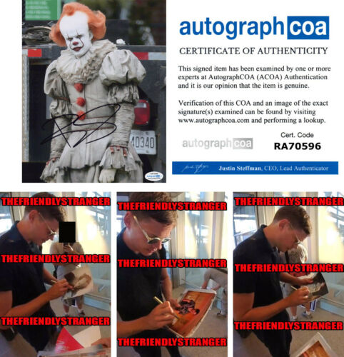 "Rare BILL SKARSGARD signed ""IT CHAPTER 2"" 8X10 PHOTO g PROOF Pennywise ACOA COA"