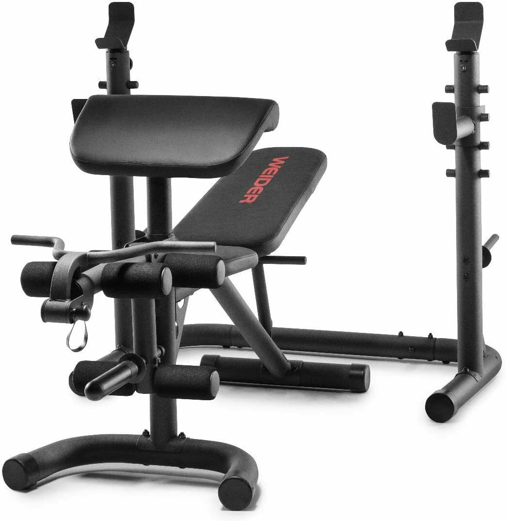 Weider XRS 20 Olympic Adjustable Workout Bench and Squat Rac