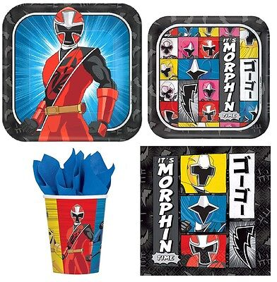 Power Ranger Party Supplies Express Pack for 8 Guests (Cups Napkins & Plates) (Power Ranger Supplies)