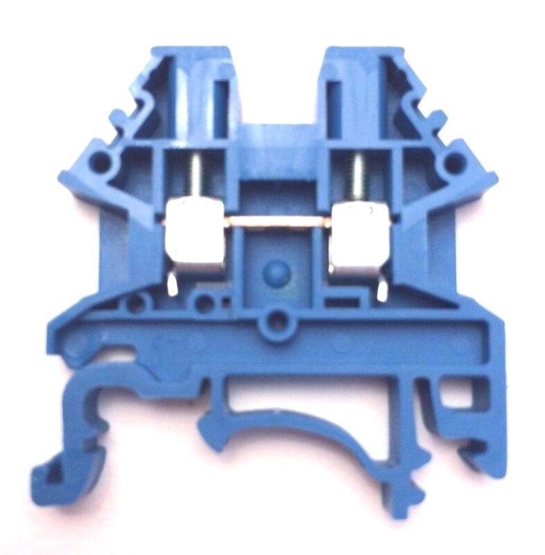 DIN Rail Terminal Blocks 40 Quantity DK2.5N-BL Dinkle Blue 12 AWG Gauge 20A 600V