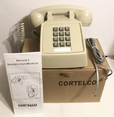 Cortelco 250044-VOE-20MC Single Line Corded Desk Phone / Ash / New In Box