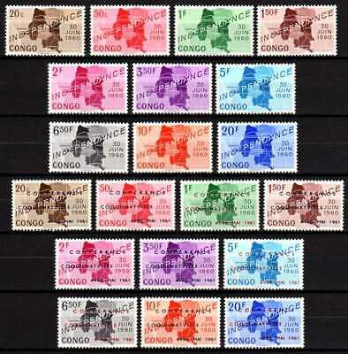 Belgisch Congo Belge Rep. Congo n° 372/381 + 420/429 MNH Independance c18.60Eu