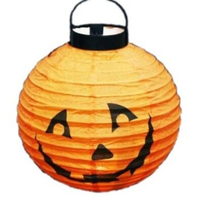 HAAC Lampion Halloween Kürbis Kürbislaterne orange leuchtend 20 cm Laternenumzug ()