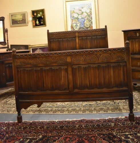 Antique Kittinger Solid Walnut 4 Piece Bedroom Set