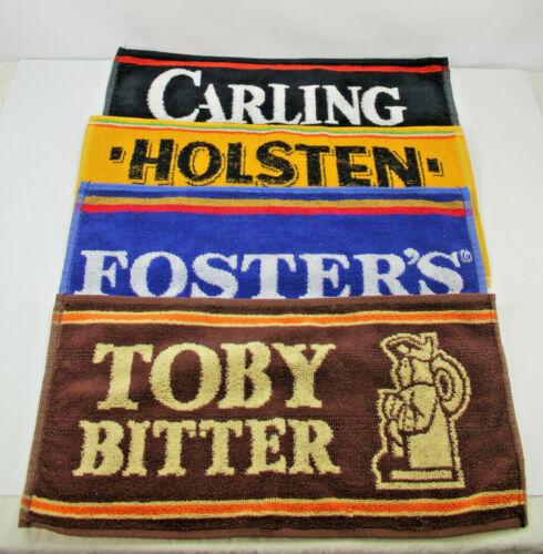 Vintage Bar Towel Lot: Carling Black Label, Holsten Pils, Foster