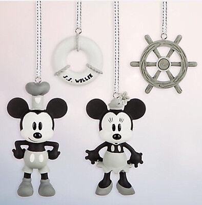 Disney Store Steamboat Willie Skizzenbuch Minis Ornament Set Mickey und Minni