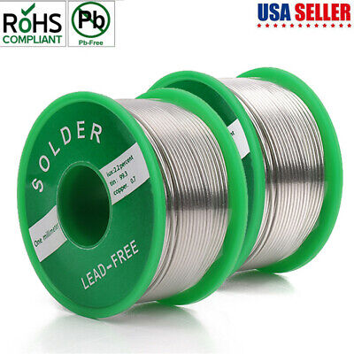 Long Lead Free Solder Tin Silver Wire Sn99 Cu0.7 Core Diy Electrical Soldering
