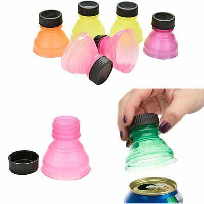 6Pcs Soda Saver Pop Beer Beverage Can Cap Flip Bottle Top Lid Protector Snap On