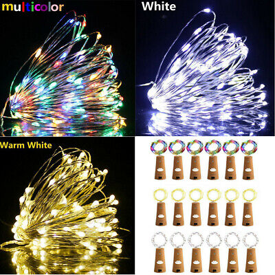 20 PACK 20 LED Wine Bottle Fairy Night String Light Cork With Battery Party Xmas ()