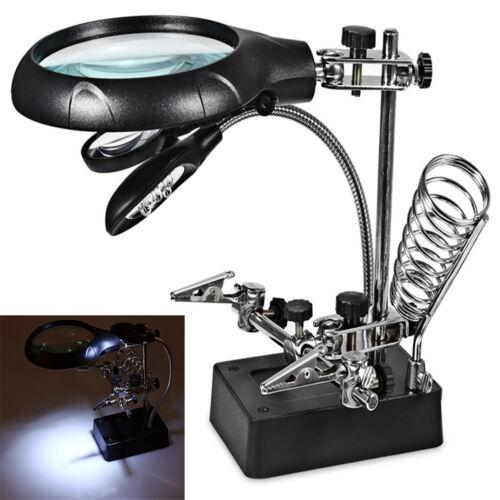 10X Magnifier Desk Lamp Repair Clamp Desktop Magnifying Glas