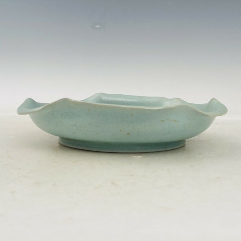 "6.7"" China Song dynasty ru kiln luqinzhai mark Porcelain Ice crack brush wash"
