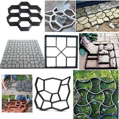 DIY Stepping Stone Mold Concrete Paving Pathway Outdoor Garden Cement Brick Mold