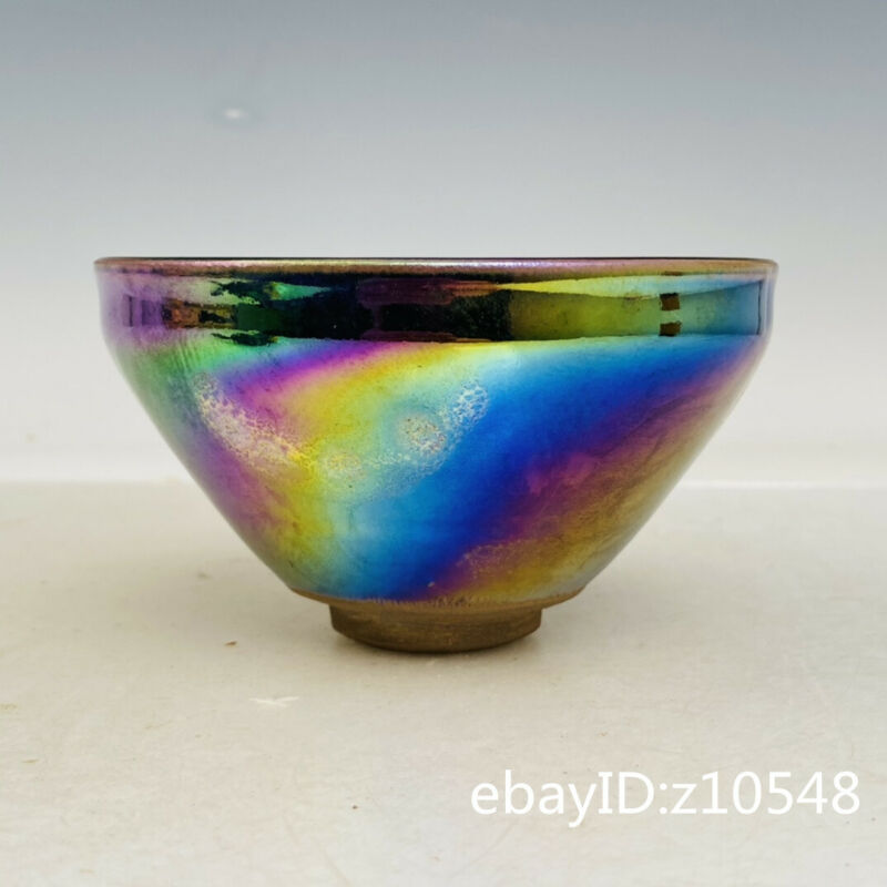 "5"" China porcelain Build a kiln For Royal Colorful water drops Cup"