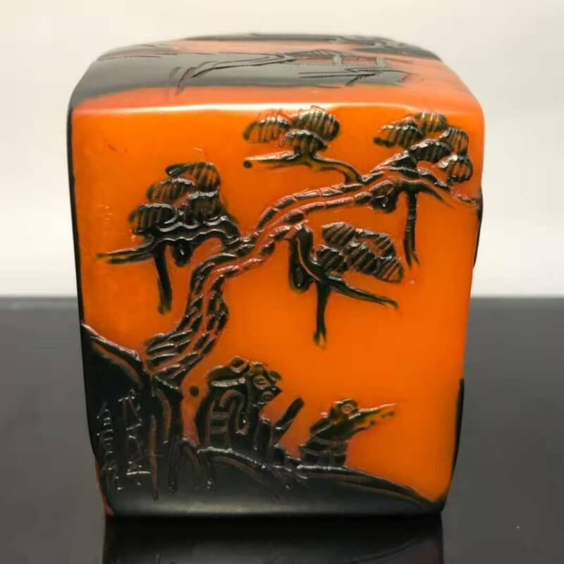 Chinese  Natural Shoushan Stone  Hand Carved Exquisite Seal   45121