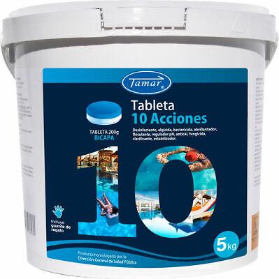 Cloro 10 Acciones Multifunción en Tableta Bicapa para Piscina - 5 Kg...