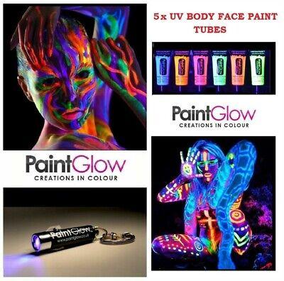 5 x 10ml SET UV Paint Glow Neon Fluorescent Face & Body Paint Halloween Party](Uv Body Paint Halloween)