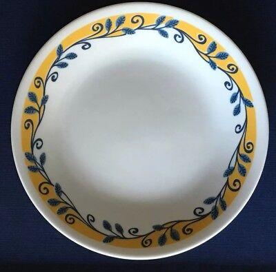 Corelle Casa Bella Flora Vista Yellow Blue White Bread Dessert Plate Dish Used