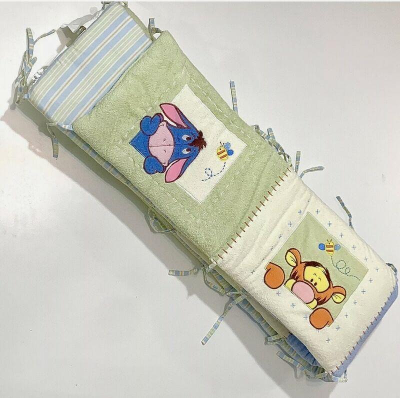 Vintage Disney Winnie the Pooh Crib Bumper, Classic Winnie the Pooh Bumper