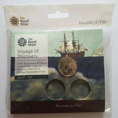 2019 Royal Mint Captain James Cook Two Pounds £2 Coin Brilliant Uncirculated BU