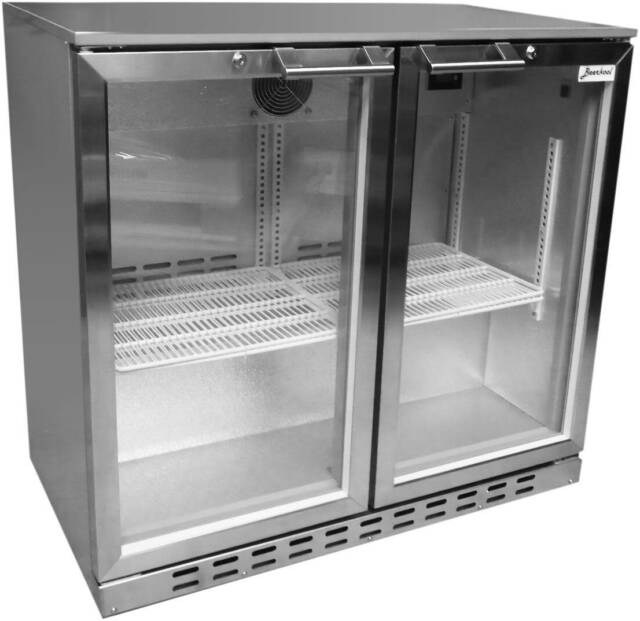 Kitchen Shelf Gumtree: Stainless Steel 2dr Alfresco Bar Glass Door Fridge