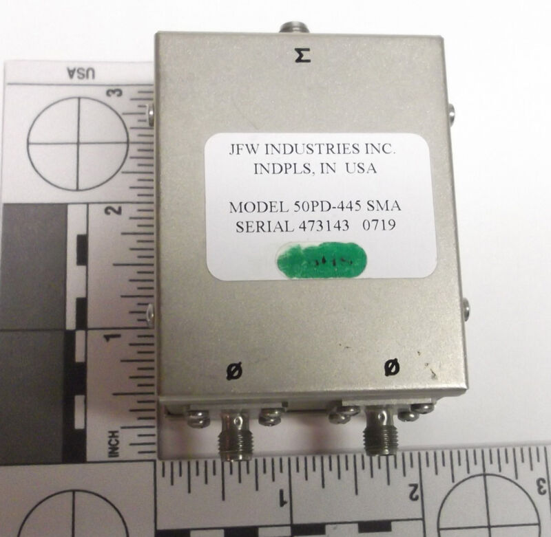 JFW Industries  50PD-445 SMA 2-WAY Power Divider Combiner 400-3000 MHz 3GHz RF
