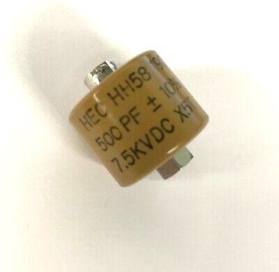 500pf 7500v Ceramic Transmitting Doorknob Capacitor 7.5kv Dc 7500 Volts Hh58