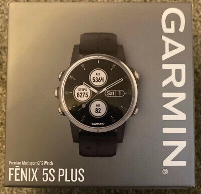 NEW SEALED Garmin 010-01987-20 Fenix 5S Plus 42mm Glass Multisport GPS Watch