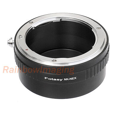Nikon F Mount Lens to Sony E-Mount NEX Camera Adapter NEX-F3 a5000 a6300 a6500