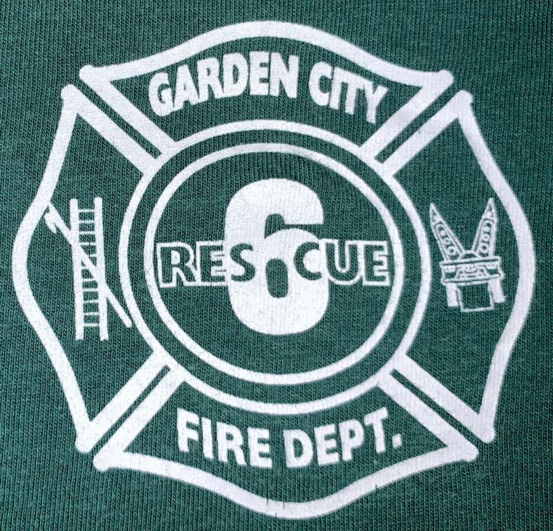 Garden City Fire Department Nassau County Long Island NY T-Shirt Sz L FDNY