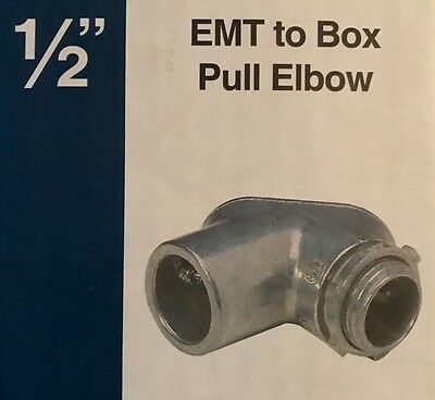 Sigma   Pro Connex 1 2  Emt To Box Pull Elbow Conduit Connector   49551   New