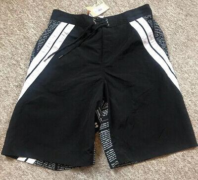 New John galliano Newspaper Black Swim Shorts Size 34 REDUCED🎈