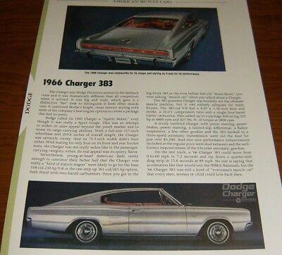 ★★1966 DODGE CHARGER 383 SPECS INFO PHOTO 66 MOPAR 318★★